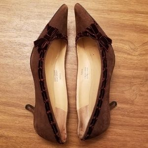 J Crew Brown Suede Kitten Heels